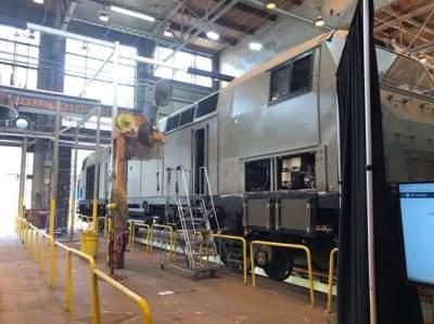 Опубликован снимок американского локомотива для Украины