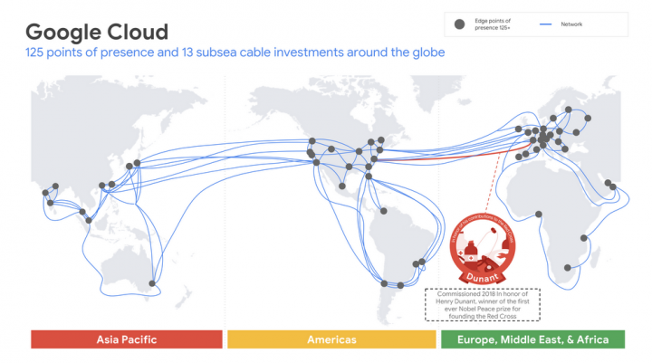 Google прокладывает новый трансатлантический кабель