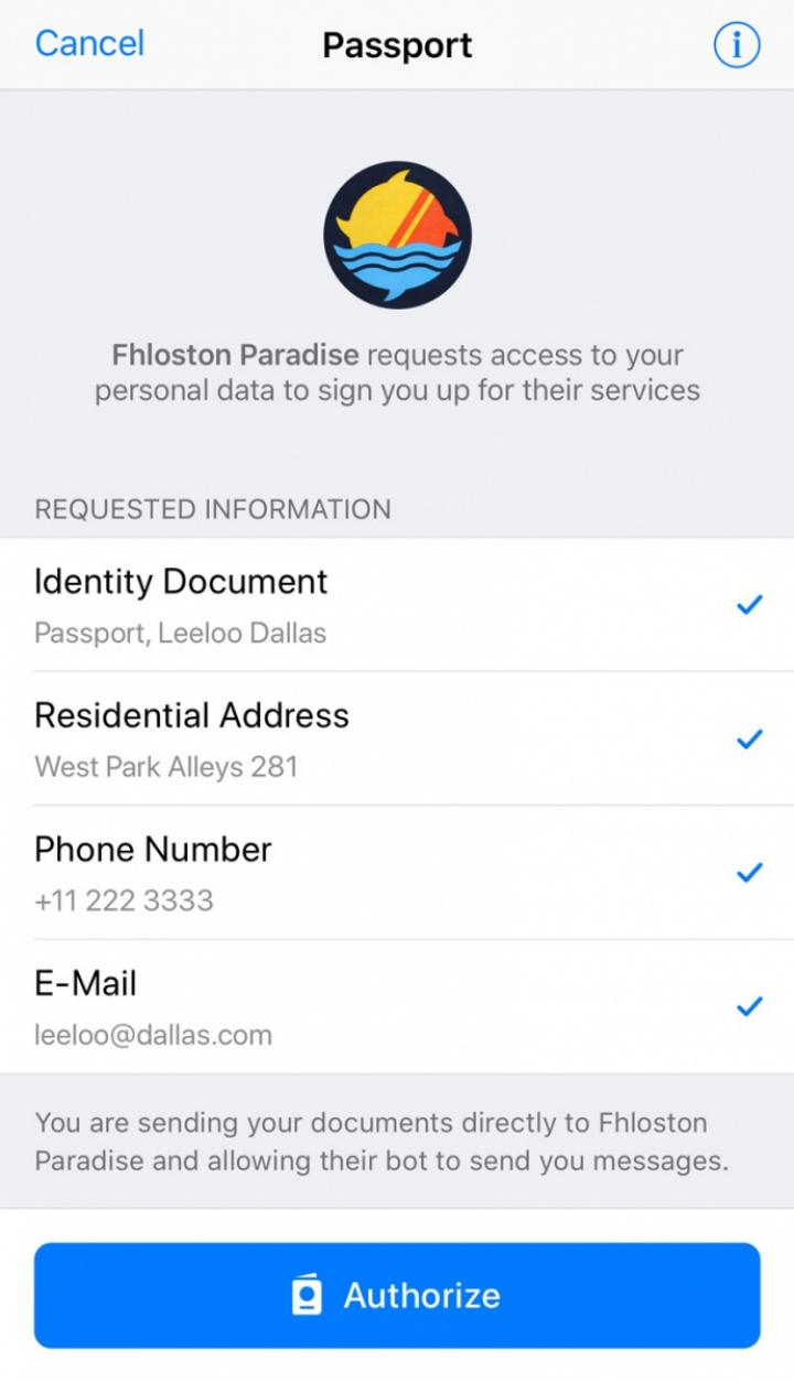 Telegram запустил систему для хранения паспортных данных