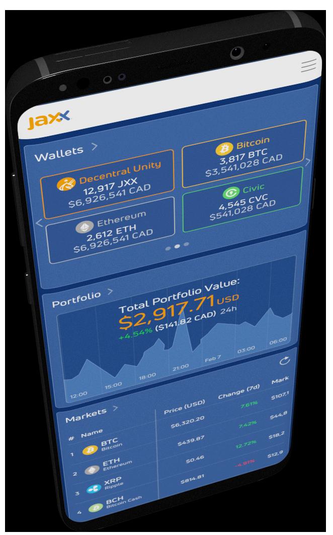 Состоялся официальный релиз мультивалютного кошелька Jaxx Liberty для Android и Chrome