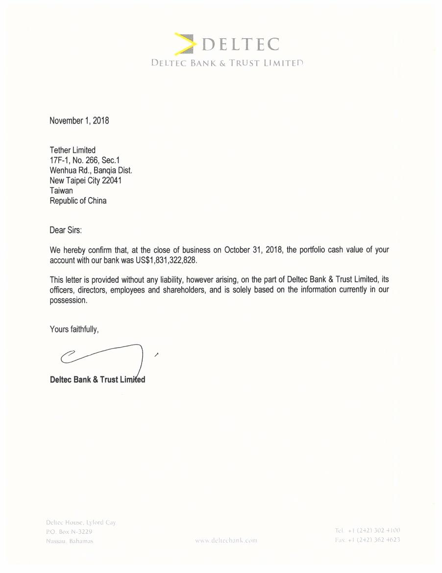 Tether подтвердил наличие банковского партнерства на Багамских островах
