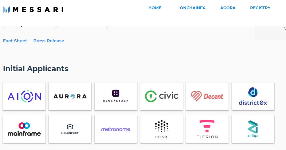Стартап Messari представил открытый реестр для криптовалютных проектов