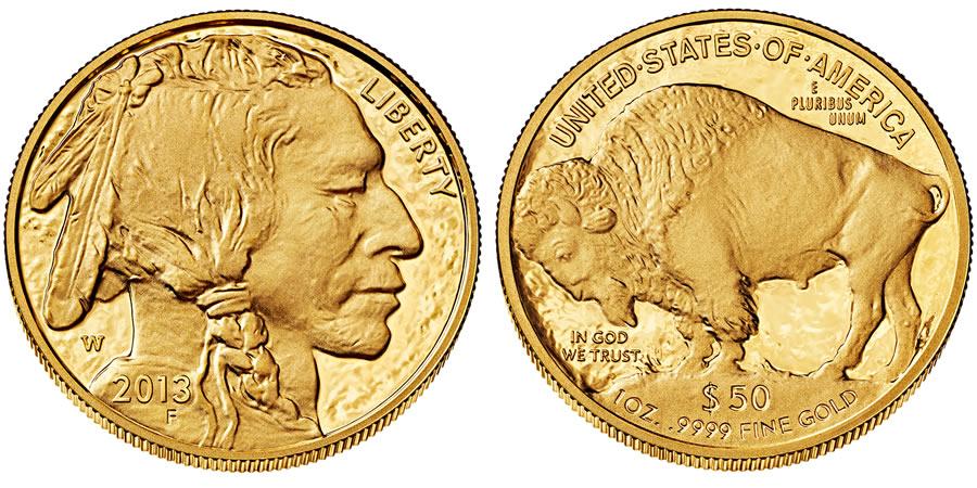 Купить золотую монету Буффало