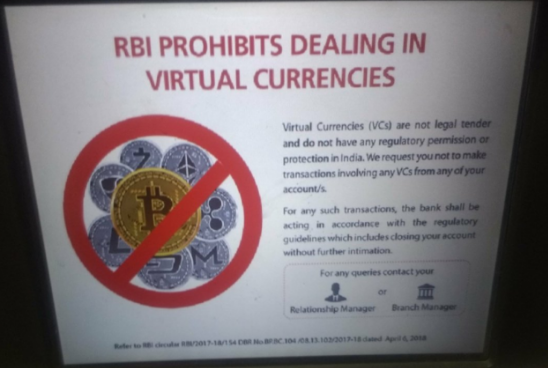 Индийские банки вынуждают клиентов избегать операций с криптовалютами