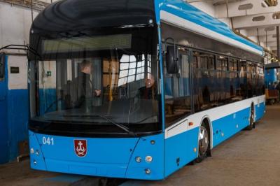 В Виннице собрали новый троллейбус